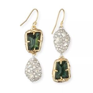 Alexis Bittar Green Pyrite Gold/Silver Earrings